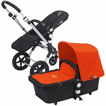 Bugaboo Cameleon 3 Bundle - Black Base / Orange Fabric Set