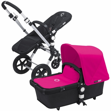 Bugaboo Cameleon 3 Bundle - Black Base / Pink Fabric Set