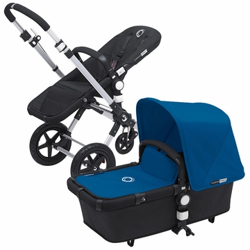 Bugaboo Cameleon 3 Bundle - Black Base / Royal Blue Fabric Set