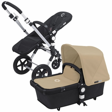Bugaboo Cameleon 3 Bundle - Black Base / Sand Fabric Set