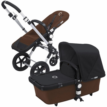 Bugaboo Cameleon 3 Bundle - Dark Brown Base / Black Fabric Set