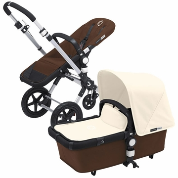Bugaboo Cameleon 3 Bundle - Dark Brown Base / Off White Fabric Set