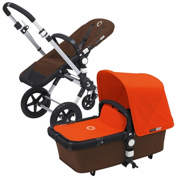 Bugaboo Cameleon 3 Bundle - Dark Brown Base / Orange Fabric Set