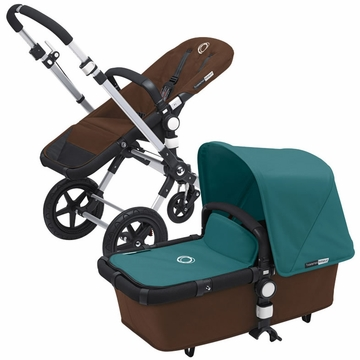 Bugaboo Cameleon 3 Bundle - Dark Brown Base / Petrol Blue Fabric Set