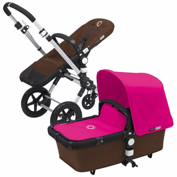 Bugaboo Cameleon 3 Bundle - Dark Brown Base / Pink Fabric Set
