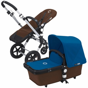 Bugaboo Cameleon 3 Bundle - Dark Brown Base / Royal Blue Fabric Set