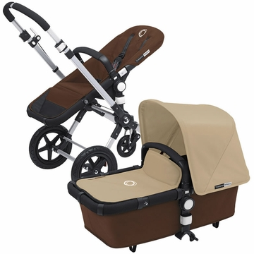 Bugaboo Cameleon 3 Bundle - Dark Brown Base / Sand Fabric Set