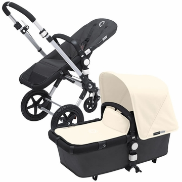 Bugaboo Cameleon 3 Bundle - Dark Grey Base / Off White Fabric Set