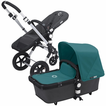 Bugaboo Cameleon 3 Bundle - Dark Grey Base / Petrol Blue Fabric Set