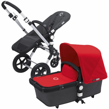 Bugaboo Cameleon 3 Bundle - Dark Grey Base / Red Fabric Set