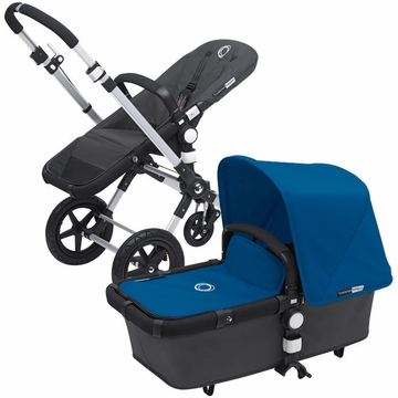 Bugaboo Cameleon 3 Bundle - Dark Grey Base / Royal Blue Fabric Set