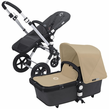 Bugaboo Cameleon 3 Bundle - Dark Grey Base / Sand Fabric Set