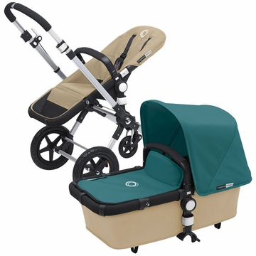 Bugaboo Cameleon 3 Bundle - Sand Base / Petrol Blue Fabric Set