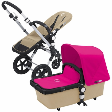 Bugaboo Cameleon 3 Bundle - Sand Base / Pink Fabric Set