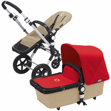 Bugaboo Cameleon 3 Bundle - Sand Base / Red Fabric Set