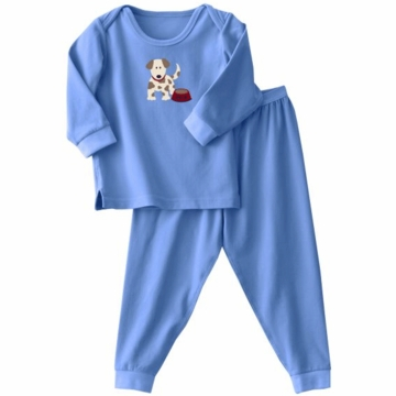 Halo ComfortLuxe Flannel Feel 2 Piece Set in Blue Dog - 6-9 Months
