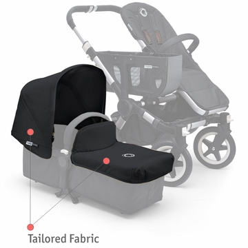 Bugaboo Donkey Tailored Fabric Set - Black - D