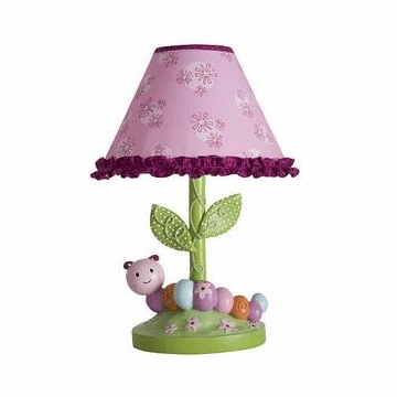 Lambs & Ivy Sunshine Garden Lamp with Shade & Bulb