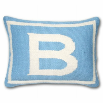 Jonathan Adler Junior Letter Pillow - Blue