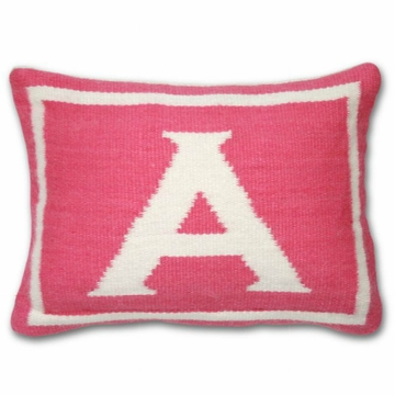 Jonathan Adler Junior Letter A Pillow in Pink