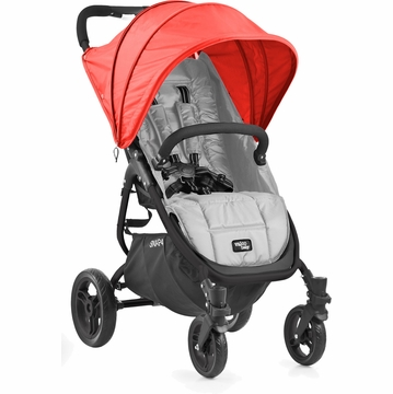 Valco Snap 4 Stroller and Hood - Silver/Cherry