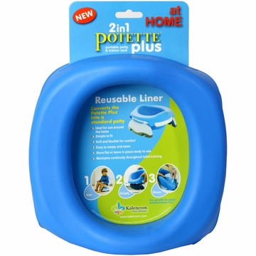 Kalencom Potette Plus at Home Reuseable Liners - Blue