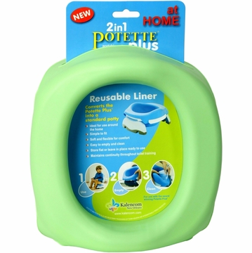 Kalencom Potette Plus at Home Reuseable Liners - Green
