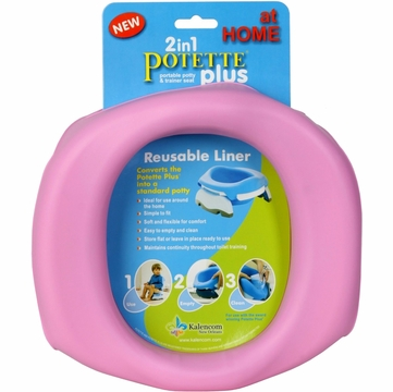 Kalencom Potette Plus at Home Reuseable Liners- Pink