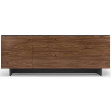 Spot on Square Roh Credenza in White/Walnut