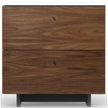 Spot on Square Roh Nightstand in White/Walnut