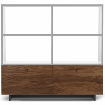 Spot on Square Roh Bookshelf in White/Walnut