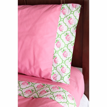 Caden Lane Big Kid Twin Sheet Set in Boutique Pink