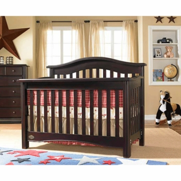 Bonavita Lifestyle Hudson 3 Piece Nursery Set in Classic Cherry - Crib, Double Dresser & 5 Drawer Dresser