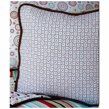 Caden Lane Square Accent Pillow in Classic Red