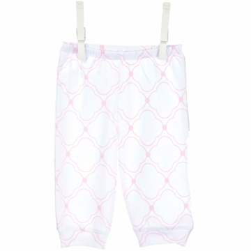 Little Giraffe Cotton Pant with Cuffs in Pink - 6 to 9 Months