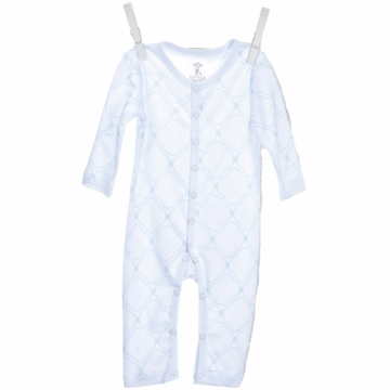 Little Giraffe Link Cotton Romper in Blue - 6 to 9 Months