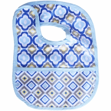 Caden Lane Reversible Coated Bib in Blue Mod