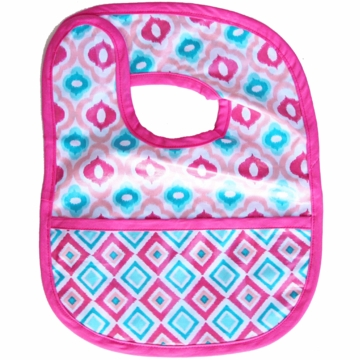 Caden Lane Reversible Coated Bib in Pink Mod