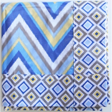 Caden Lane Spill Mat in Blue Ikat