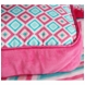 Caden Lane Square Accent Pillow in Ikat Pink