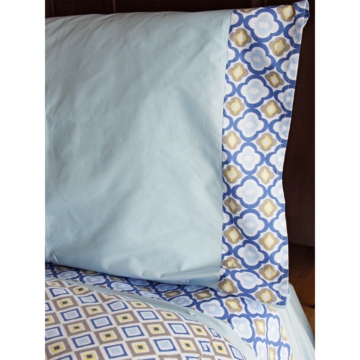 Caden Lane Big Kid Twin Ikat Sheet Set in Ikat Blue