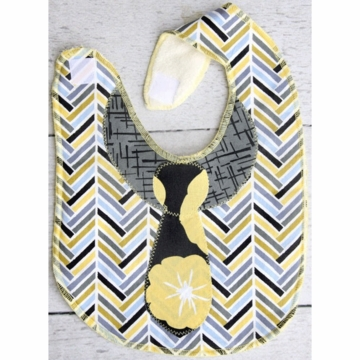 Caden Lane Toddler Bib - Herringbone Boy  (Limited Edition)