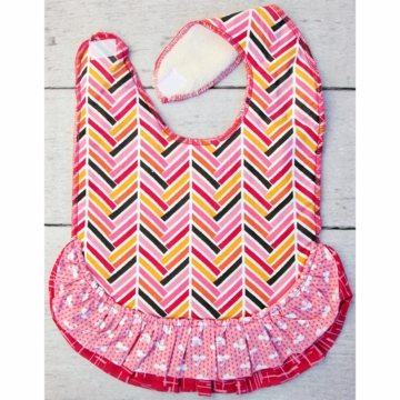 Caden Lane Toddler Bib - Herringbone Girl (Limited Edition)