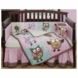 Bananafish Calico Owls 3 Piece Crib Bedding Set