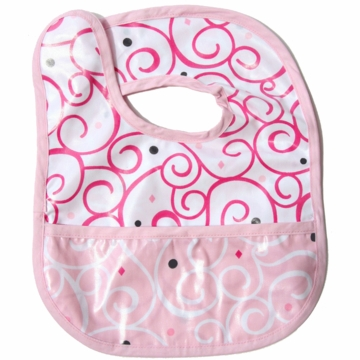 Caden Lane Reversible Coated Bib in Pink Dark Swirl/Light Swirl