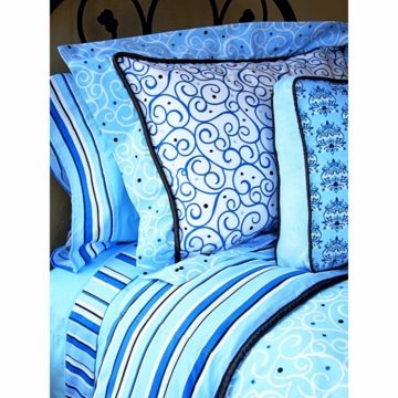 Caden Lane Big Kid Twin Duvet Cover in Luxe Blue