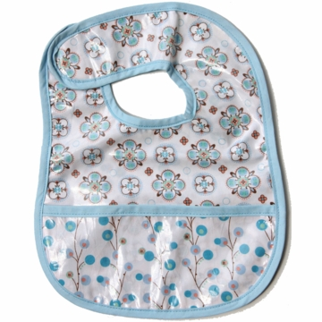 Caden Lane Reversible Coated Bib in Blue Small Moroccan/Twiggy