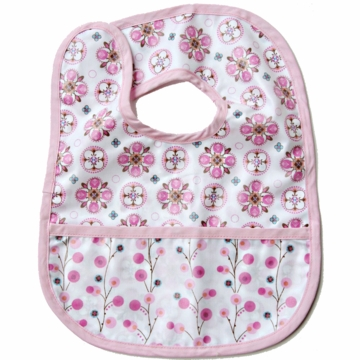 Caden Lane Reversible Coated Bib in Pink Small Moroccan/Twiggy