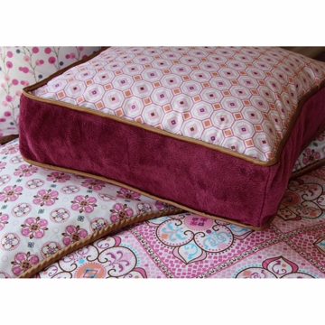 Caden Lane Square Accent Pillow in Modern Vintage Pink