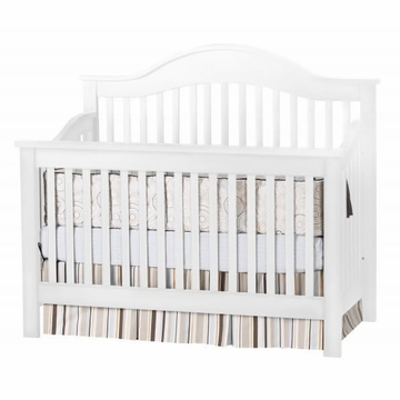DaVinci Jayden 4-in-1 Convertible Crib with Toddler Rail in White